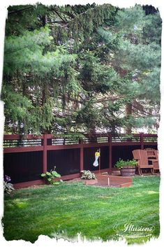 Black and Rosewood PVC Vinyl Fence from Illusions Vinyl Fence