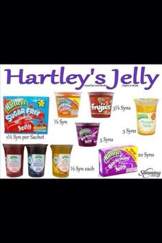 Jelly - Syn levels for slimming world - double check Slimming World Shopping List, Slimming World Syns List, Slimming World Syn Values, Slimming World Free, Slimming Word, Slimming World Desserts, Slimming World Recipes Syn Free, Slimming Eats, Healthy Eating Tips