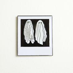 Image of Ghost Polaroid Lapel Pin