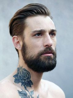 Rose Neck Tattoos For Men