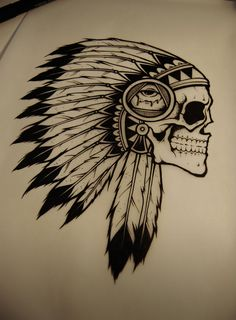 """Mintees - Tees - """"BMTH - Indian Skull"""" by DROP"""