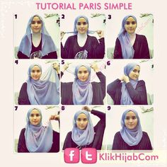 Easy hijab tutorial using a square scarf! Tutorial Hijab Modern, Square Hijab Tutorial, Hijab Style Tutorial, Hijab Turban Style, Hijab Chic, Stylish Hijab, Hijab Outfit, How To Wear Hijab, Muslim Dress