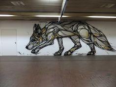 Antwerpen - Metrostation Plantin - Belgium. artist - Dzia, Wall paints, Muurschilderingen, Peintures Murales,Trompe-l'oeil, Graffiti, Murals, Street art.: Antwerpen - Belgium. Dzia