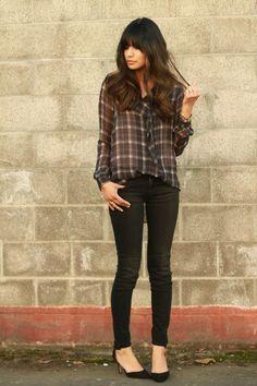 zara blouse, jeans & shoes, lulus id bracelet