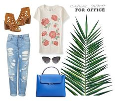 """""""Casual outfit at work! 😉"""" by unavaligiaper on Polyvore featuring moda, Topshop, Aéropostale, Nika, Madden Girl, MANGO e Dolce&Gabbana"""