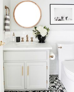 Bathroom goals We spend a lot of time in front of our bathroom sink and mirror when we're applying our daily skincare routines, so it…