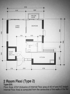 Public Housing 2 Room Apartment In Singapore 47sqm