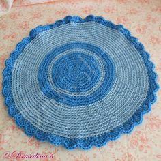 Cat Bed Crochet Crate Mat Sleep Dog Pet Blanket Washable Acrylic Blue Stripe