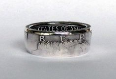 SILVER Kennedy Half Dollar Coin Ring by TCSCustoms on Etsy