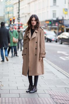 Leila Yavari ... love the oversized trench
