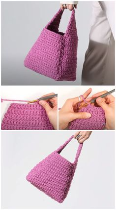 We are going to learn How to Crochet Manu bucket bag. This project is Great for beginners as it works up quickly and doesn't split. It doesn't take a lot of yarn, so more than likely, you'll be able to find yarn in your stash to complete one. Hope you like this Bucket Bag, make as a small bag to bring out for tea and coffee with friends and family. It is lightweight and handy when you don't feel like bringing a big purse out. Free Crochet Bag, Crochet Tote, Crochet Shoes, Crochet Purses, Crochet Clothes, Crochet Keychain Pattern, Crochet Purse Patterns, Bag Patterns To Sew, Diy Crochet Projects