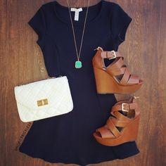 Crushin On You Dress - Black