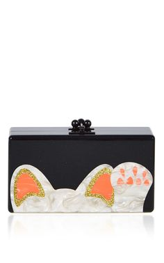 Jean Beckoning Cat Clutch by Edie Parker for Preorder on Moda Operandi