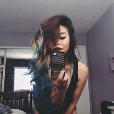 I would really like to try this with my hair! Since mines a plum dark brown I'm thinking purple tips hmmm