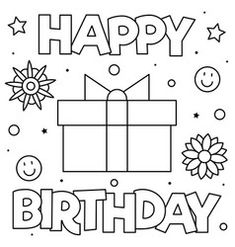 40+ Happy Birthday coloring pages ideas in 2020 | birthday ...