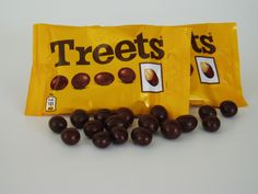 """""""Treets melt in your mouth, not in your hand""""."""