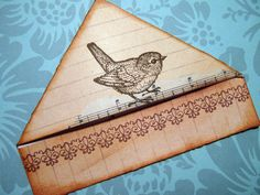 Rustic Robin bookmark by misseskwittys, via Flickr