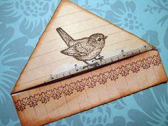 Rustic Robin bookmark by misseskwittys, via Flickr