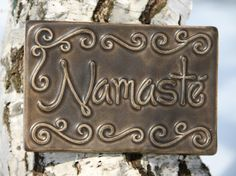 Namaste..one could use yarn and glue to make this on cardboard then carefully cover with a flat sheet of aluminum tin foil. Gently press it down working your way from one side to the other