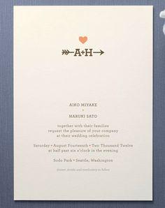 Arrow Rustic Wedding Invitation