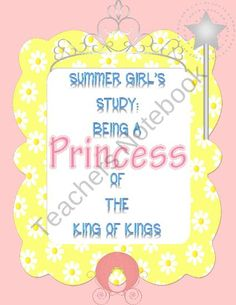 did this study with my own sweet daughter recently and it brought about some many great discussions that make learning HIS Word for a young girl so easy and thought provoking.  This study includes different aspects of learning what it means to be a Prince