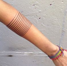 Simple Lines and Dots Tattoo