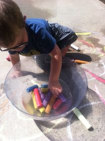 Play Create Explore: Chalk & Water Play