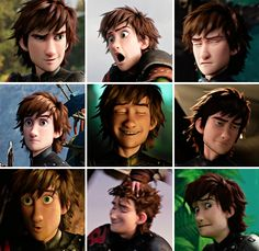 The different faces of Hiccup