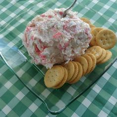 When I made the Open Faced Crab Salad Sandwiches for my husband and son, I had leftover crab salad. I decided to mix it with some cream cheese and made it into a cheese ball. They now request it every weekend while watching football. It's impressive enoug Seafood Appetizers, Appetizer Dips, Seafood Recipes, Appetizer Recipes, Dip Recipes, Crawfish Recipes, Salad Recipes, Seafood Dip, Dinner Recipes