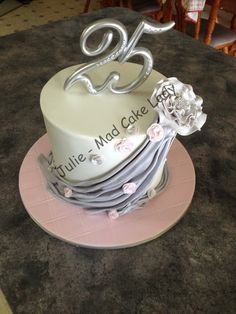 25th Anniversary cake - Chocolate mud cake