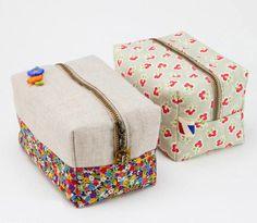 Easy Zipper Box Bag Tutorial
