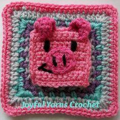 Pleasing Pig Granny Square Applique
