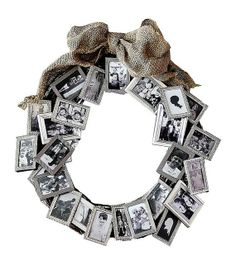 wedding wreath decoration memory picture frames by ... | WREATHS!!