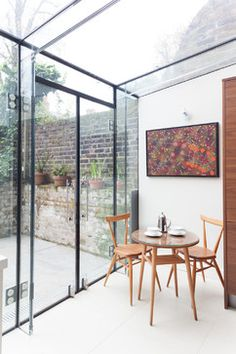 Islington Glass box extension contemporary dining room