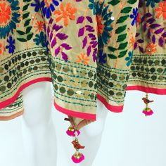 Shop online handmade, vintage, and one-of-a-kind traditional phulkari products at Pink Phulkari. Explore different phulkari work designs here, today! Indian Attire, Indian Wear, Indian Dresses, Indian Outfits, Punjabi Dress, Punjabi Suits, Indian Embroidery, Desi Clothes, Cotton Suit