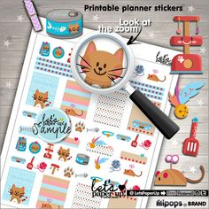 ★New listing! Cat printable stickers - Kawaii planner stickers