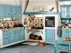 Kitchen Decor Ideas Decoration is no question important for your home. Whether you choose the Decor Top Of Kitchen Cabinets or Kitchen Soffit Decorating Ideas, you will make the best Painting Colors For Kitchen Walls for your own life. French Country Kitchens, French Country House, French Country Decorating, Country Style, Blue Country Kitchen, Country Life, Küchen Design, House Design, Interior Design