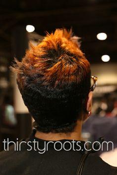 Short Relaxed Hair Cut Black Women 1