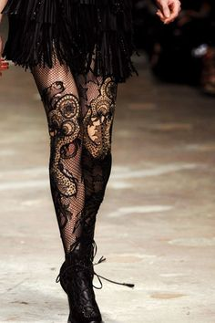 lace tights - I have several of them and I love wearing them!