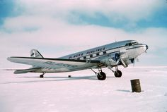Douglas DC-3, one of the aircraft purchased by the airline after WWII