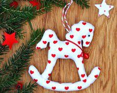 Rocking Horse Pdf Tutorial. DIY Sewing Pattern. Christmas Tree Ornament. Winter Decoration. Nursery Decor. Baby Room Decor