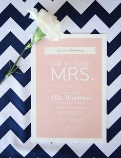 "printable bridal shower invitation - ""blushing bride"""