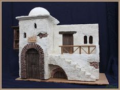 Mini Bible world Nativity House, Christmas Nativity Scene, A Christmas Story, Christmas Manger, Pottery Houses, Ceramic Houses, Diy Crib, Modelos 3d, Miniature Houses