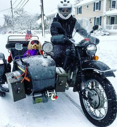 1,940 отметок «Нравится», 18 комментариев — Ural Motorcycles (@uralmotorcycles) в Instagram: «Psshh what snow? @britneydoodle conquering their East Coast commute this morning. Ride year round…»