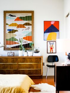 Old Brand New home- love the colours, textures, eames chair, retro sideboard and overall relaxed style