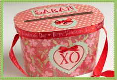cute valentine box made from ice cream container