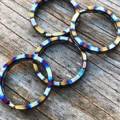 Titanium Split Ring -  Polished Rings And [tisurvival.com/] #Titanium #TiSurvival #TiSurvivalSplitRings #RustProof #SplitRing