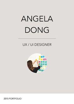 This is one of my friends' portfolio:   Angela Dong  UX/UI Portfolio: Process + Case Studies + Client Work