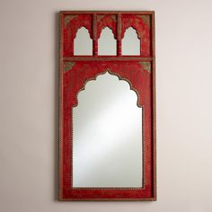 Red Mirror with Gold Detail | World Market