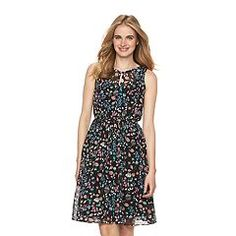 Women's LC Lauren Conrad Mesh Fit & Flare Dress
